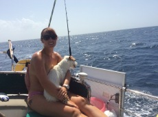 Sailing slowly to Martinique