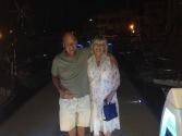 Mum and Barry enjoying their last night