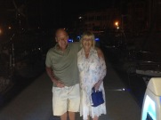 Mum and Barry enjoying their last night