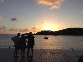 Watching the sunset in Carlisle Bay