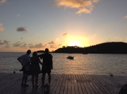 Watching the sunset in Carlisle Bay
