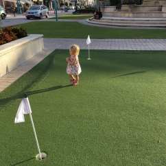 The free putting green